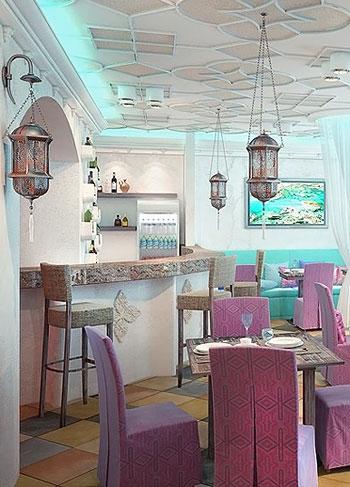 arabskiye svetilniki dlya restoranov i kafe