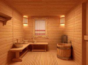 Интерьер бани должен призывать к уюту